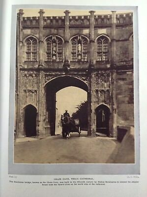£10.95 • Buy Chain Gate, Wells Cathedral, Somerset, England, Vintage C1926,  Print