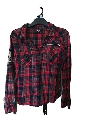 £0.99 • Buy Seek And Destroy Button Up Emo/Gothic Shirt Women's Size M