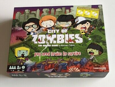 £19.95 • Buy City Of Zombies Board Game Think Noodle Maths Educational STEM Made In GB Awards