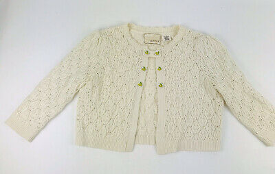 $ CDN18.68 • Buy Anthropologie Sz S Guinevere Cropped Cream Ivory Knit Cardigan Lemon Buttons