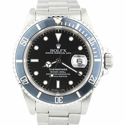 $ CDN10891.29 • Buy 1990 Men's Rolex Submariner Date Stainless Faded Black 40mm Dive Watch 16610