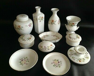 £29.95 • Buy Collection Wedgwood Mirabelle China Bud Vase Trinket Pots Pin Dishes