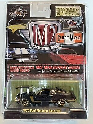 $12.50 • Buy M2 Machines Detroit-Muscle 1970 Ford Mustang Boss 302 Chase Car