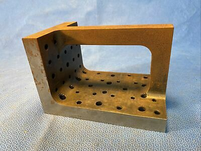 """$79 • Buy MACHINIST TOOL Small Setup 4"""" X 4"""" X 6"""" Right Angle Block - Dr Ducat 82"""