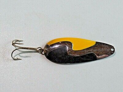 $ CDN20.99 • Buy Vintage Kush Spoon Yellow And Silver Large Spoon Fishing Lure 9086