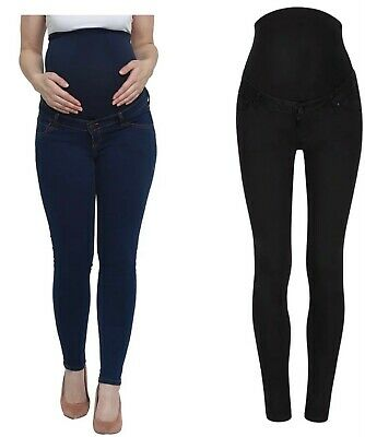 £14.99 • Buy Mothercare Maternity Skinny Jeans Women's Blue Black Over The Bump Pregnancy NEW