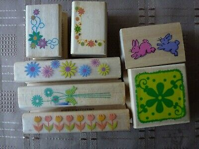 £2.50 • Buy Selection Of Floral Rubber Stamps