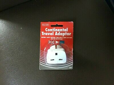 AU1.83 • Buy Continental Travel Adapter - UK To Euro