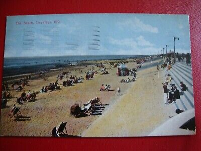 £3.50 • Buy The Beach, Cleveleys, No 619-Vintage Postcard-Franked & Posted 1935