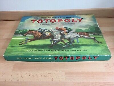 £24 • Buy Vintage Waddingtons Totopoly Horse Racing Board Game - Plastic Horses VGC