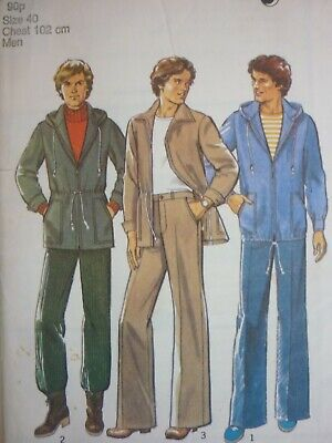 £7.99 • Buy Vintage 1970's Style Men's Casual Jacket & Trousers Sewing Pattern