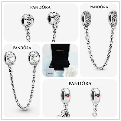 AU19.28 • Buy S925 Pandora NEW Box Genuine Charm & Silver Logo Chain With Safety ALE Gift