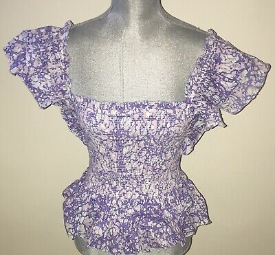 $ CDN98.19 • Buy LOVE THE LABEL Martine Lavender Smocked Top Size M Or L ($165) NWT Anthropologie