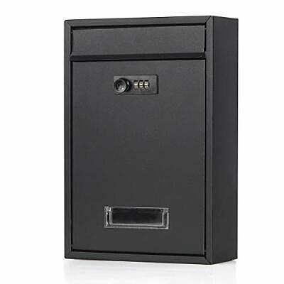 $28.61 • Buy Locking Mailboxes Wall Mounted Vertical Combination Lock Drop Mail Box Large Cap