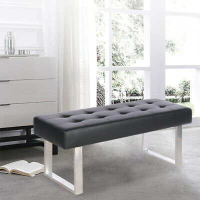 £82.95 • Buy Dining Bench Faux Leather Padded Hallway Window Seat 2-3 Seater Bed End Stool