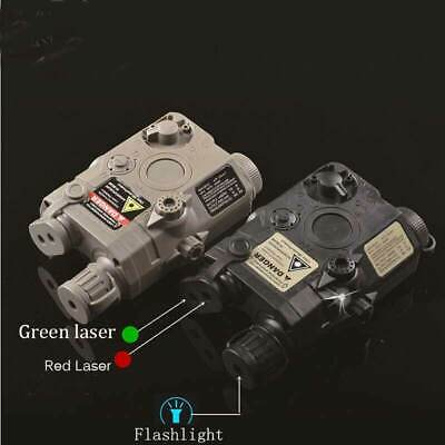 £12.99 • Buy PEQ15 Tactical Battery Case Box Green/Red Laser And White Light Army Hunting