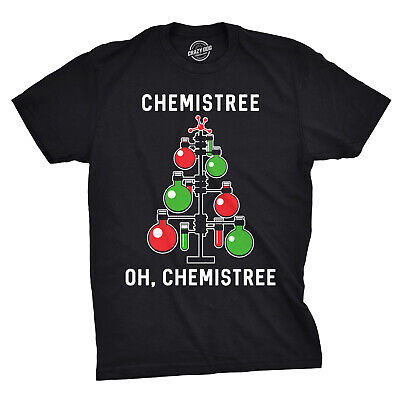 $15.19 • Buy Mens Chemistree T Shirt Funny Chemistry Science Christmas Nerdy Graphic Cool Tee