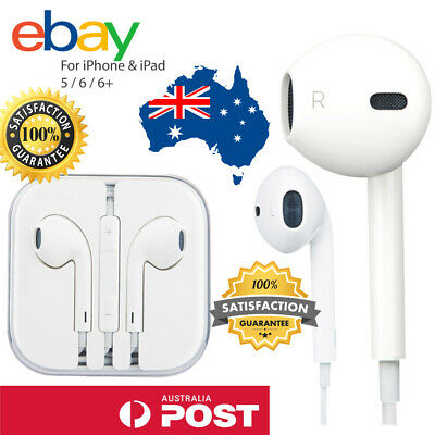 AU8.49 • Buy 🔥 Wired 3.5mm Jack Earphone Earbud With Mic For Apple Ipad Ipod Iphone 4 5 6