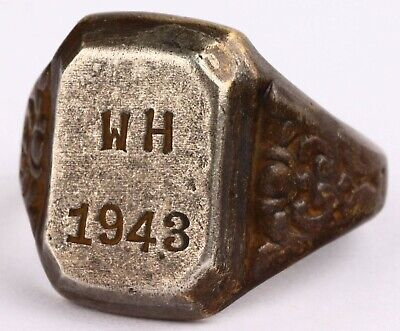 £4.30 • Buy W H 1943 Wehrmacht Ww2 GERMAN Officer's Ring STERLING Silver WWII GERMANY Trench