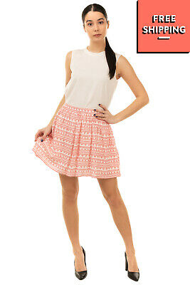 £0.99 • Buy LTB Skater Skirt Size S Two Tone Geometric Pattern Fully Lined Elasticated Waist