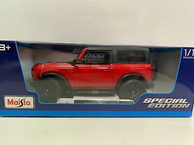 $29.99 • Buy Maisto 1:18 2021 Red Ford Bronco Wildtrack Diecast Model Special Edition