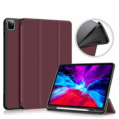 AU27.50 • Buy For IPad Pro 12.9/11 2021Smart Case TPU Tri-fold Stand Cover Pen Holder
