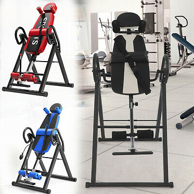 £81.99 • Buy Foldable Inversion Table Exercise Fitness Back Therapy Gravity Bench Gym Home