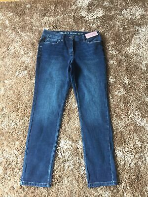 £8.99 • Buy Relaxed Skinny Blue Jeans New Size 10 Uk