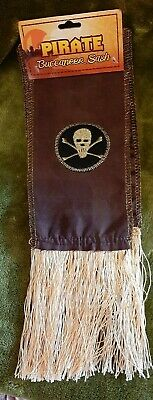 £4 • Buy PIRATE  SASH  Brown And Gold   - FANCY DRESS (PIRATES)