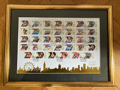 £50 • Buy London 2012 Olympic Gb Team 34 Royal Mail Gold Medal Paralympic Winners Stamps