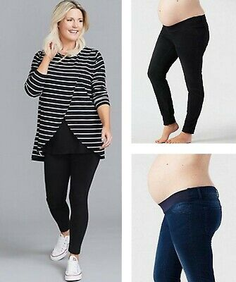 £12.95 • Buy MOTHERCARE Ladies Maternity Jeans Blue Black Under Bump Skinny Stretch Pregnancy