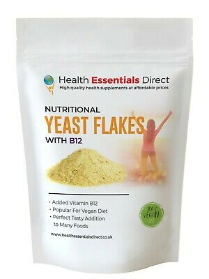 £3.99 • Buy Vegan Nutritional Yeast Flakes - B12 Fortified, Superior Nooch - Extra Tasty