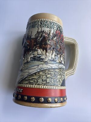 $ CDN30.84 • Buy Budweiser Anheuser Busch 1988 Collector's Series Holiday Beer Stein Clydesdale's