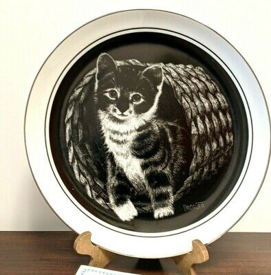 £9.34 • Buy  Hello World  Kittens World Vintage 1979 Collector Plate Plate Rudy Droguett Cat
