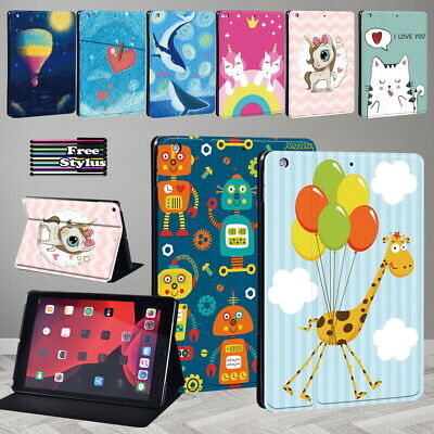 £5.99 • Buy Cartoon PU Leather Stand Tablet Cover Case For Apple IPad/iPad Mini/Air/Pro