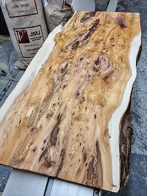 £550 • Buy 5A Figured Yew Coffee Table Top Slab - Astounding Figure! One Of A Kind!