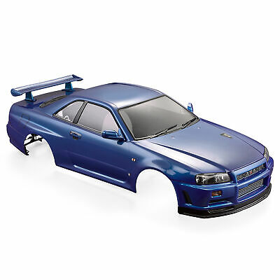 £55.99 • Buy NISSAN SKYLINE (R34) Finished Body Shell Frame 257mm For 1/10 Electric Car V1A8