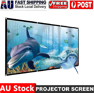AU32.99 • Buy  Foldable Projector Screen 16:9 Home Theater Cinema Outdoor Movie Projection AUS