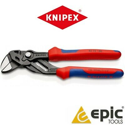 £49.50 • Buy Knipex 180mm (7 ) Lock Button Wrench Spanner Waterpump Pliers Grips, 86 02 180