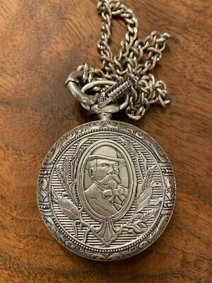 £86.52 • Buy Jack Daniels Old No. 7 Silver Pocket Watch Chain And Leather Pouch  Rare