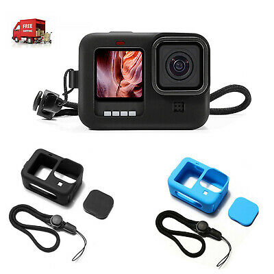 AU10.99 • Buy Silicone Camera Protective Frame Case Lens Cap Set Accessories For GoPro Hero 9