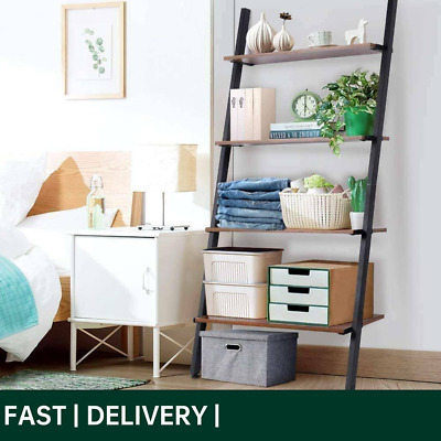 £26.60 • Buy 4 Tiers Wooden Ladder Retro Book Shelf Stand Plant Flower Display Shelving Rack