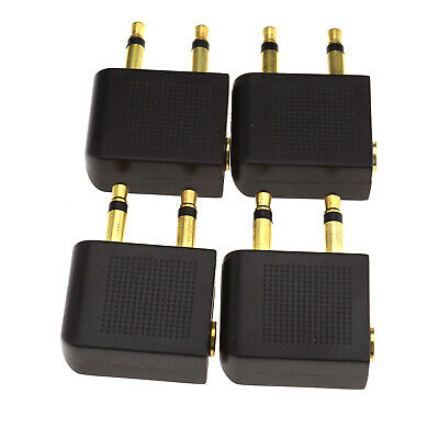 £5.01 • Buy 4 X Plane Airline Airplane Headphone Adapters Gold Plated 3.5mm Jack Plug