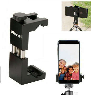 AU16.99 • Buy Ulanzi ST-02 Tripod Adapter Vlog Holder Mobile Phone Clip Mount With Cold Shoe