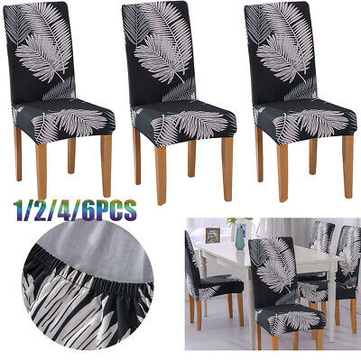 £2.79 • Buy Dining Chair Seat Covers Slip Banquet Home Protective Stretch Covers Removable