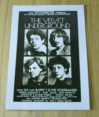 £3.99 • Buy The Velvet Underground : At The Paramount : A4 Glossy Reproduction Poster