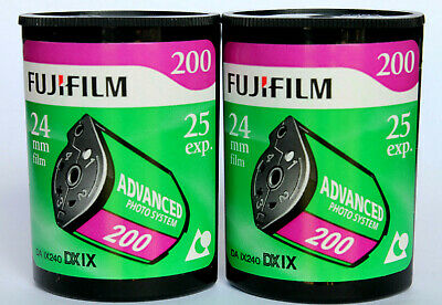 £15.99 • Buy 2 X FUJI APS 200iso 25 EXPOSURE COLOUR CAMERA FILM OUTDATED & UNBOXED