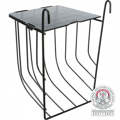 £9.99 • Buy Small Trixie Hook On Cage Hutch Run Bars Rabbit Guinea Pig Hay Manger Rack Lid
