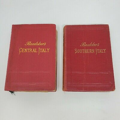 £48.66 • Buy Baedeker Southern Italy (1912) And Central Italy (1904) - With Maps