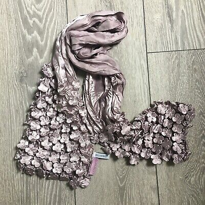 £14.99 • Buy Powder Satin Purple Floral Textred Scarf